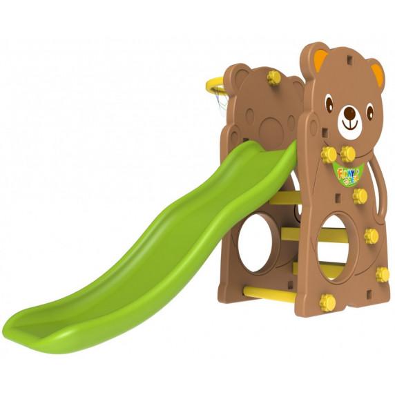 Kerti játszótér csúszdával és hintával 3az1-ben Inlea4fun TEDDY BEAR