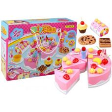 Inlea4Fun dětský krájecí dort DIY CAKE BHIRTDAY se 75 doplňky Preview