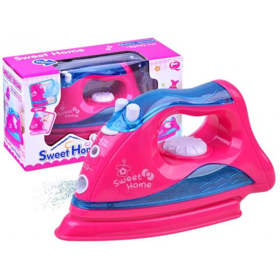 Inlea4Fun SWEET HOME Dětská napařovací žehlička - růžová