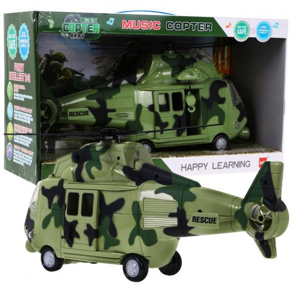 Vojenská helikoptéra se zvukovými a světelnými efekty Inlea4Fun