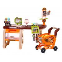 Supermarket s nákupním košíkem + 65 doplňků Inlea4Fun