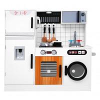 Interaktivní kuchyňská hračka + dárková kuchyňská sada Inlea4Fun ELLA - bílá