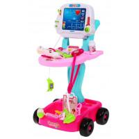 Dětský lékařský vozík Inlea4Fun Doctor EKG - růžový