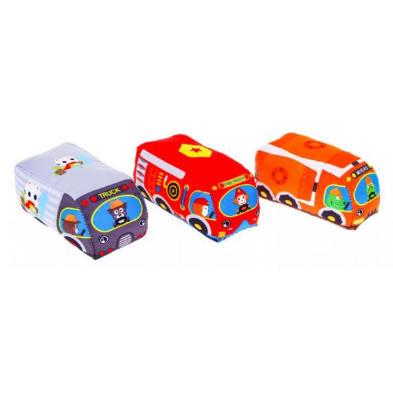 Dětský koberec CARS IN TOWN Inlea4Fun s měkkými autíčky
