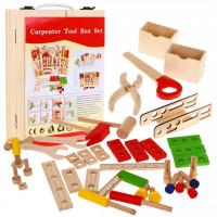 Dřevěná sada pro kutily v přenosném boxu Inlea4Fun