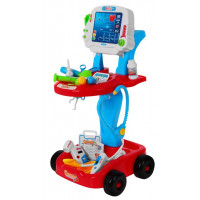 Dětský lékařský vozík Inlea4Fun Doctor EKG - modro-červený
