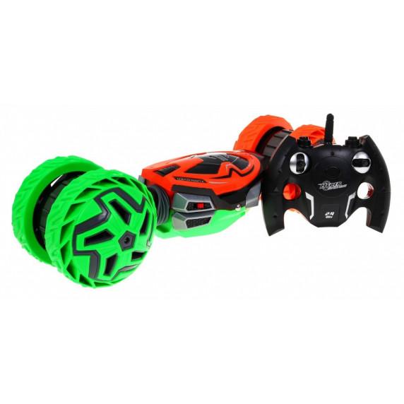 Akrobatické autíčko na dálkové ovládání Inlea4Fun - zeleno/oranžové