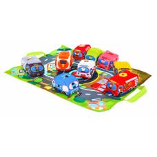 Dětský koberec CARS IN TOWN Inlea4Fun s měkkými autíčky  Preview