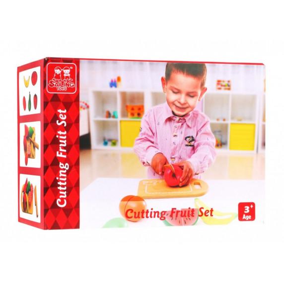 Dřevěné ovoce na krájení s příslušenstvím Inlea4Fun