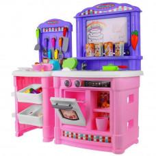 Velká dětská kuchyňka Super Šéf s tekoucí vodou Inlea4Fun + příslušenství- růžová Preview