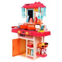 Inlea4Fun MODERN KITCHEN dětská kuchyňka se 42 doplňky - ružová