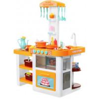 Inlea4Fun AMELIA Kuchyňka se světelnými a zvukovými efekty se 40 doplňky - oranžová