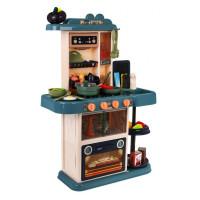 Inlea4Fun HOME KITCHEN Dětská kuchyňka s 43 doplňky - hnědá