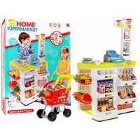 Inlea4Fun Stragan Dětský supermarket s nákupním vozíkem - žlutý
