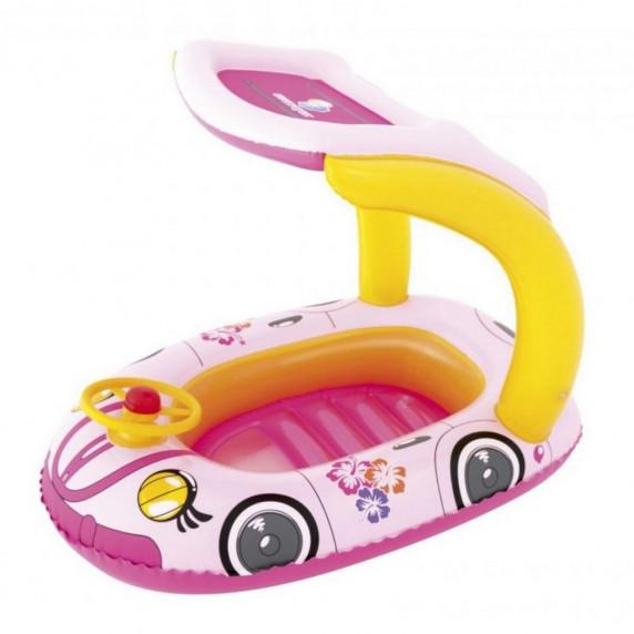 Nafukovací člun autíčko - růžový - BESTWAY  34103