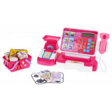 Inlea4Fun Cash Register Dětská pokladna - růžová / bílá Preview