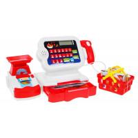 Inlea4Fun Cash Register Dětská pokladna - červená / bílá