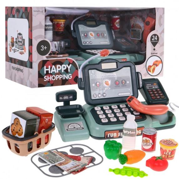 Inlea4Fun Happy Shopping Dětská pokladna s příslušenstvím