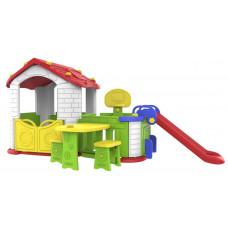 Inlea4Fun Dětský zahradní domek 5 v 1 - červený Preview