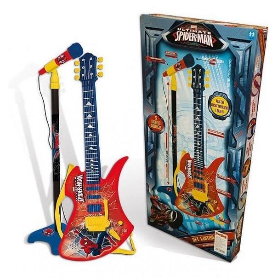 Mikrofon na stojanu s 6 strunovou kytarou REIG Spiderman