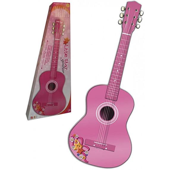 REIGOVÁ Madera Dětská dřevěná kytara 75 cm - Růžová