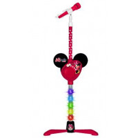 Svítící MP3 mikrofon se stojanem REIG 5253 Minnie Mouse