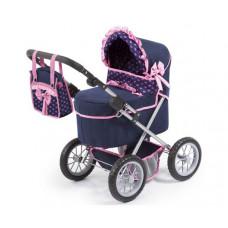 REIGOVÁ trendy luxus dětský kočárek 67x41x68cm - Modro-růžový Preview