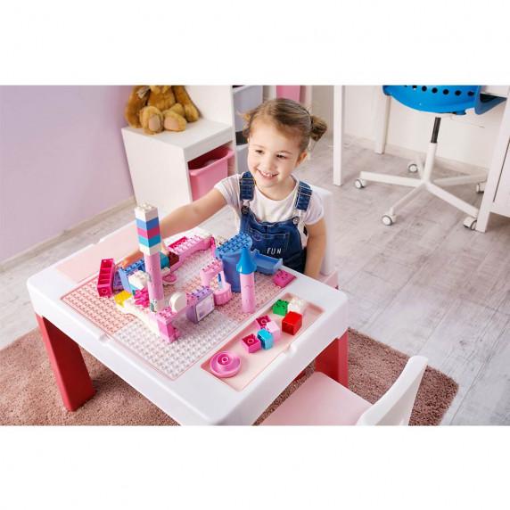 Tega Multifun dětská sada stoleček a židle - růžová