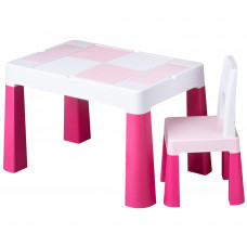 Tega Multifun dětská sada stoleček a židle - růžová Preview