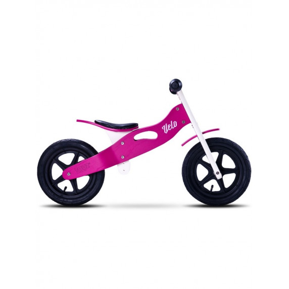 Dětské dřevěné cykloodrážadlo Toyz Velo 12 '- fialovo-černé