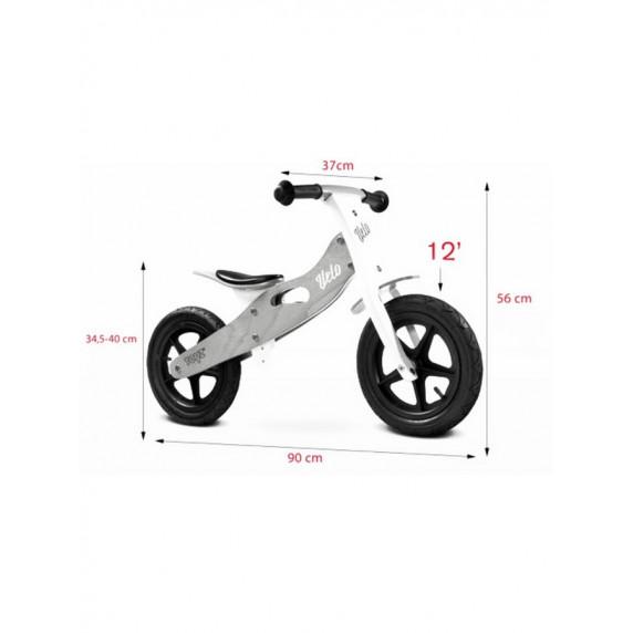 Dětské dřevěné cykloodrážedlo Toyz Velo 12 '- šedé